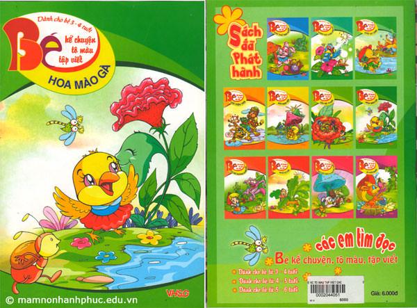 Sách Bé kể chuyện tô màu tập viết dành cho bé 3-4 tuổi