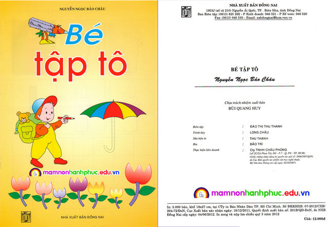 Sách Bé tập tô - NXB Đồng Nai