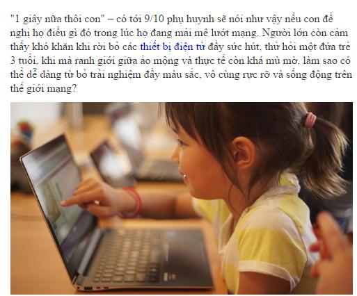 5 cách giúp trẻ rời khỏi thiết bị điện tử.