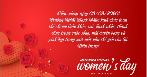 Mừng ngày Quốc tế phụ nữ 08-03-2020!
